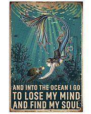 And Into The Ocean Mermaid And Turtle 11x17 Poster front