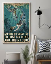 And Into The Ocean Mermaid And Turtle 11x17 Poster lifestyle-poster-1