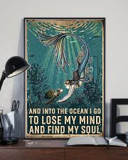 And Into The Ocean Mermaid And Turtle 11x17 Poster lifestyle-poster-2