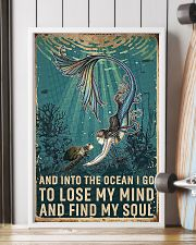 And Into The Ocean Mermaid And Turtle 11x17 Poster lifestyle-poster-4