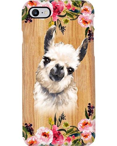 Llamas Wooden Phone Case Style