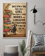 Labrador Retrievers And Books 11x17 Poster lifestyle-poster-1