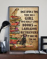 Labrador Retrievers And Books 11x17 Poster lifestyle-poster-2