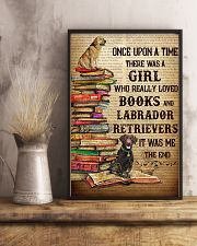 Labrador Retrievers And Books 11x17 Poster lifestyle-poster-3