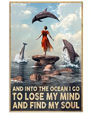Dolphin Into The Ocean Lose My Mind Find My Soul 11x17 Poster front