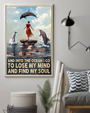 Dolphin Into The Ocean Lose My Mind Find My Soul 11x17 Poster lifestyle-poster-1