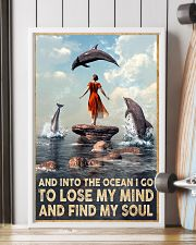 Dolphin Into The Ocean Lose My Mind Find My Soul 11x17 Poster lifestyle-poster-4