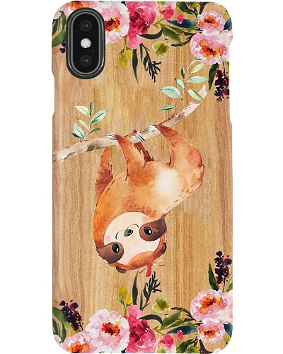 Sloth Wooden Phone Case Style