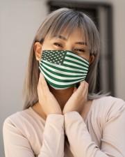 Cannabis Flag 0602 Cloth face mask aos-face-mask-lifestyle-17