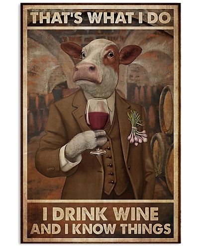 That's What I Do I Drink Wine Cows