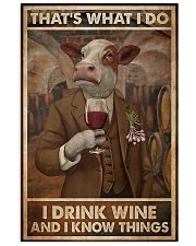 That's What I Do I Drink Wine Cows 11x17 Poster front