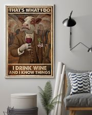 That's What I Do I Drink Wine Cows 11x17 Poster lifestyle-poster-1