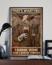 That's What I Do I Drink Wine Cows 11x17 Poster lifestyle-poster-2