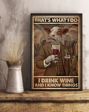 That's What I Do I Drink Wine Cows 11x17 Poster lifestyle-poster-3
