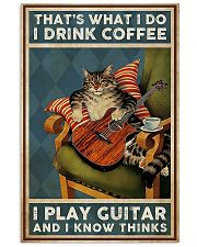 That's What I Do I Drink Coffee Play Guitar 11x17 Poster front