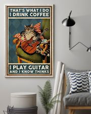 That's What I Do I Drink Coffee Play Guitar 11x17 Poster lifestyle-poster-1