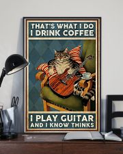 That's What I Do I Drink Coffee Play Guitar 11x17 Poster lifestyle-poster-2