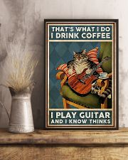 That's What I Do I Drink Coffee Play Guitar 11x17 Poster lifestyle-poster-3