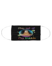 Sloths Stay Ourt Of My Bubble Cloth face mask aos-face-mask-coverlet-lifestyle-front-01