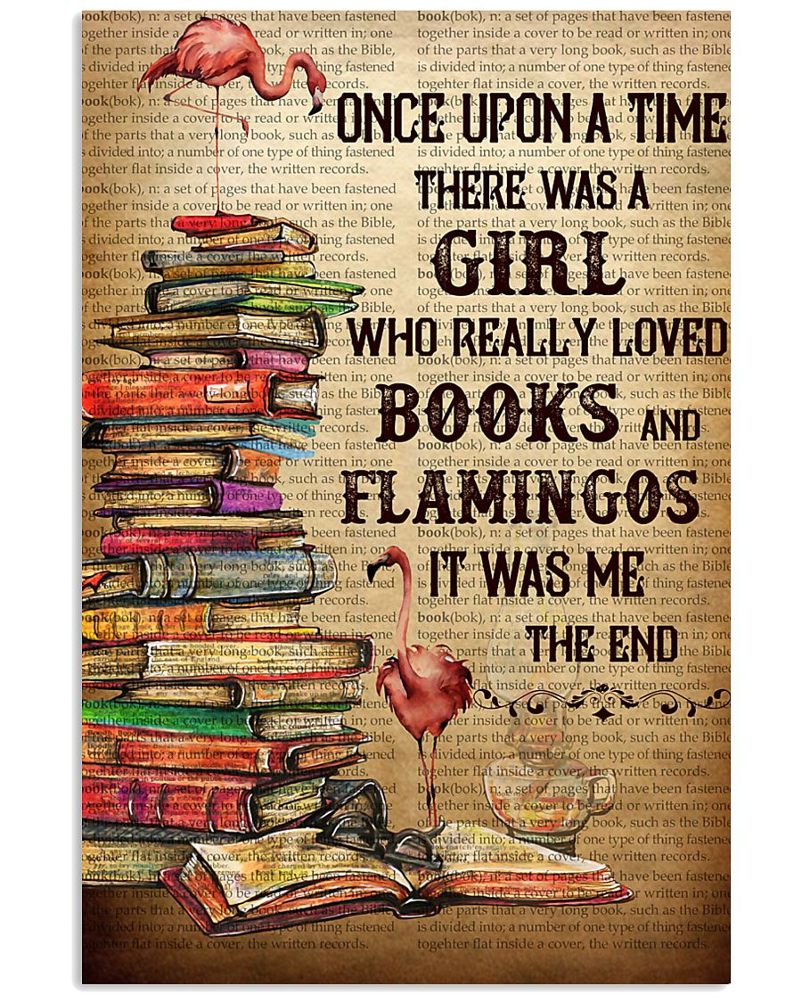 Flamingos And Books 24x36 Poster