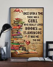 Flamingos And Books 24x36 Poster lifestyle-poster-2