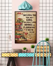 Flamingos And Books 24x36 Poster lifestyle-poster-6