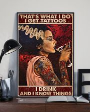 That's What I Do I Get Tattoos I Drink 11x17 Poster lifestyle-poster-2