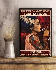 That's What I Do I Get Tattoos I Drink 11x17 Poster lifestyle-poster-3