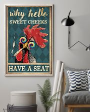 Chickens Why Hello Sweet Cheeks Have A Seat 11x17 Poster lifestyle-poster-1