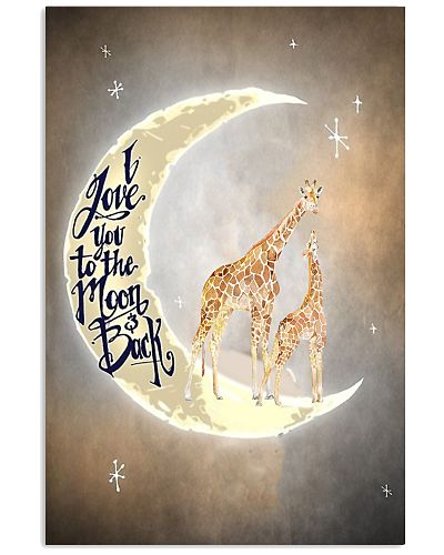 Giraffes i Love You To The Moon And Back