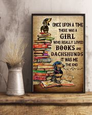 There Was A Girl Who Loved Dachshunds And Books 11x17 Poster lifestyle-poster-3