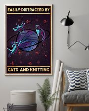 Easily Distracted By Cats And Knitting  11x17 Poster lifestyle-poster-1
