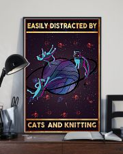 Easily Distracted By Cats And Knitting  11x17 Poster lifestyle-poster-2