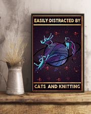 Easily Distracted By Cats And Knitting  11x17 Poster lifestyle-poster-3