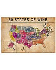 50 States Of Wine 17x11 Poster front