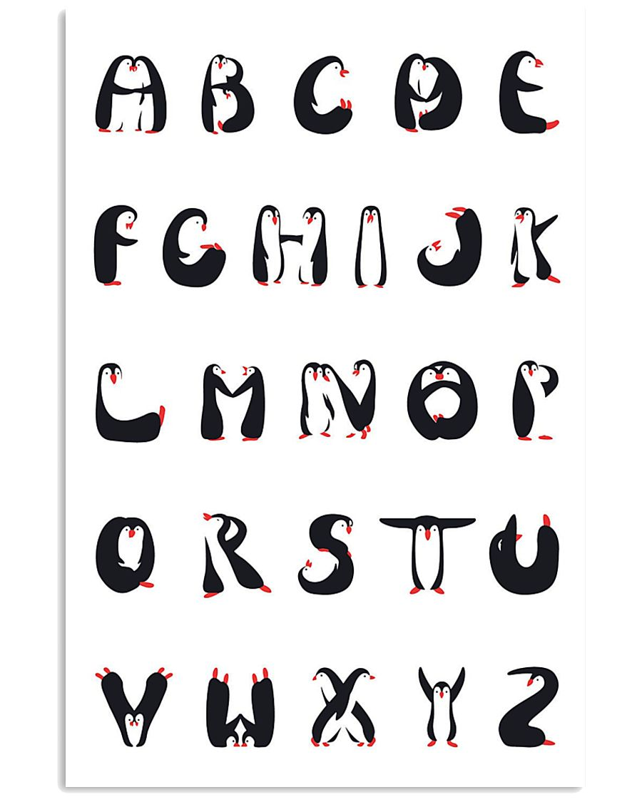 Penguins Alphabet 11x17 Poster