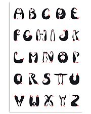 Penguins Alphabet 11x17 Poster front