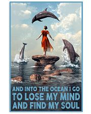 Dolphin Into The Ocean Lose My Mind Find My Soul 6 11x17 Poster front
