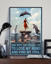 Dolphin Into The Ocean Lose My Mind Find My Soul 6 11x17 Poster lifestyle-poster-2