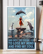 Dolphin Into The Ocean Lose My Mind Find My Soul 6 11x17 Poster lifestyle-poster-4