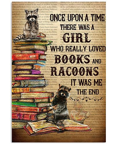 Upon A Time Girl Loved Racoons And Books
