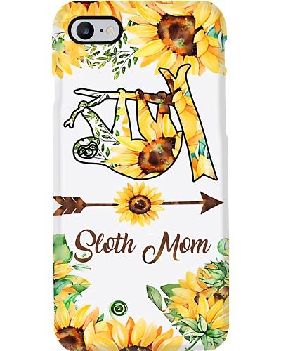 Sloth Mom Sun Flower