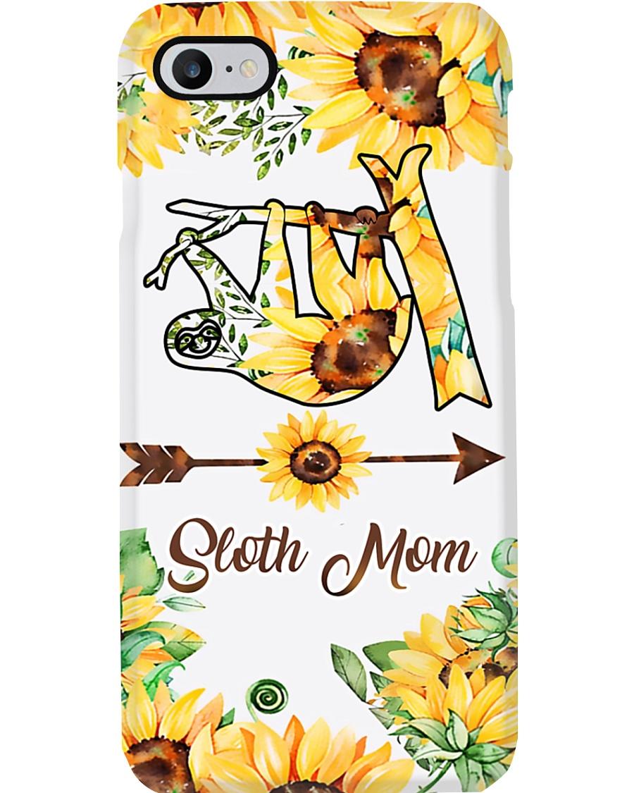 Sloth Mom Sun Flower Phone Case