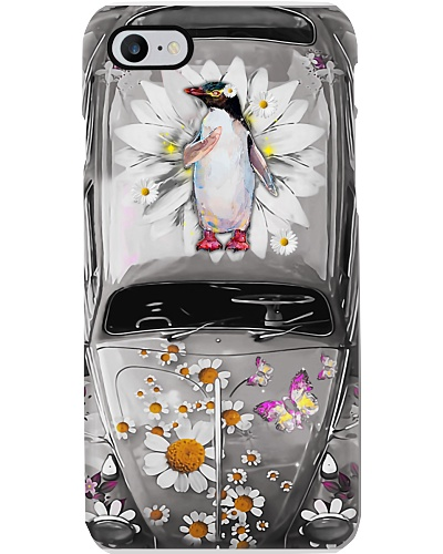 Penguin Daisy Phone Case