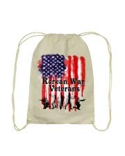 Korean War Veterans Gifts Drawstring Bag back