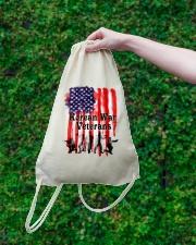 Korean War Veterans Gifts Drawstring Bag lifestyle-drawstringbag-front-3