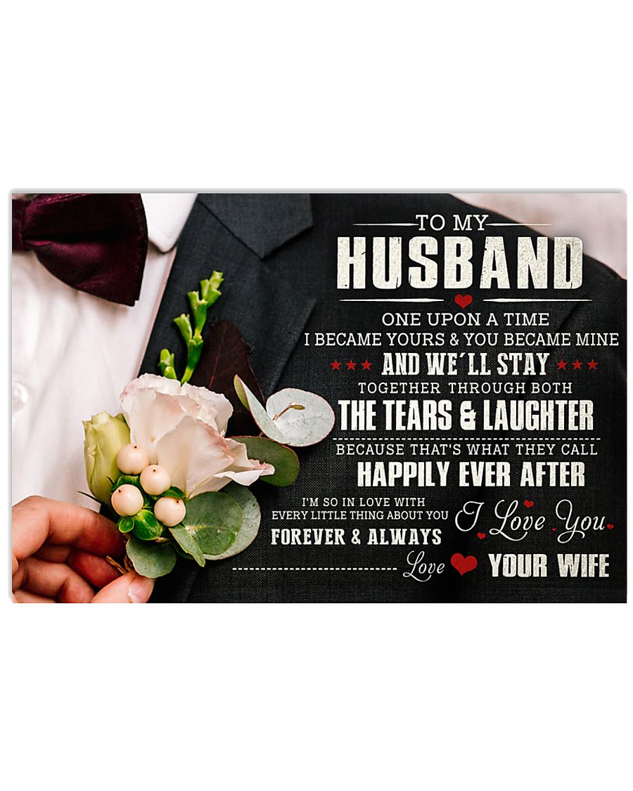 TO MY HUSBAND 36x24 Poster