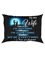 TO MY WIFE Rectangular Pillowcase thumbnail