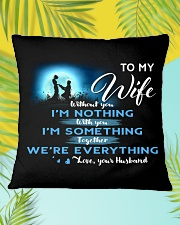 TO MY WIFE Square Pillowcase aos-pillow-square-front-lifestyle-30