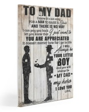 TO MY DAD 20x30 Gallery Wrapped Canvas Prints front